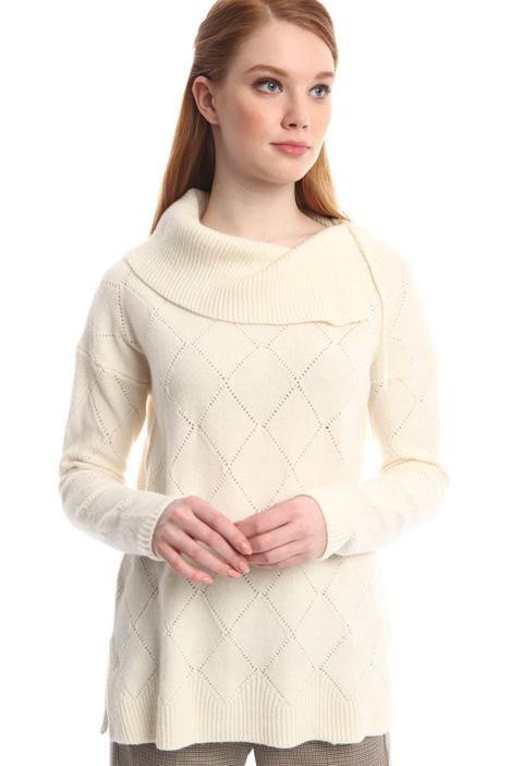 Wool diamond sweater Diffusione Tessile