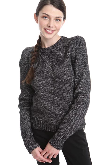 Maglia corta in lana lurex Diffusione Tessile