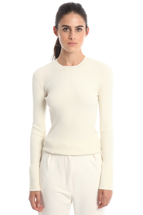Fitted viscose sweater Diffusione Tessile