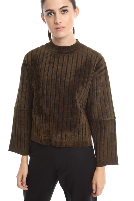 Boxy chenille sweater Intrend