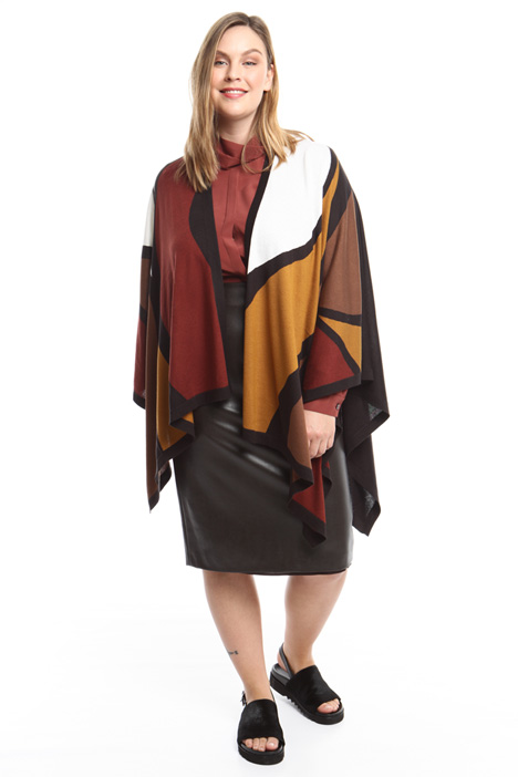 Silk and cashmere cape Diffusione Tessile