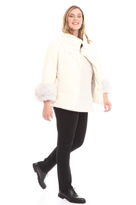 Padded jacket with rhinestones Diffusione Tessile