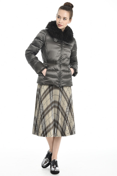 Fur collar down jacket Diffusione Tessile