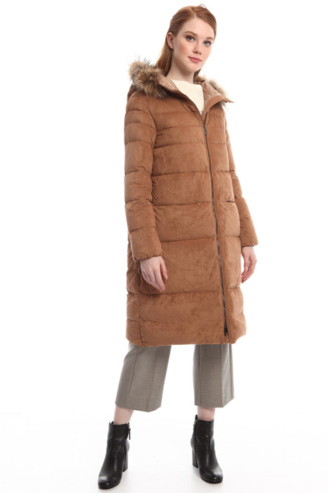Suede jersey down coat Diffusione Tessile