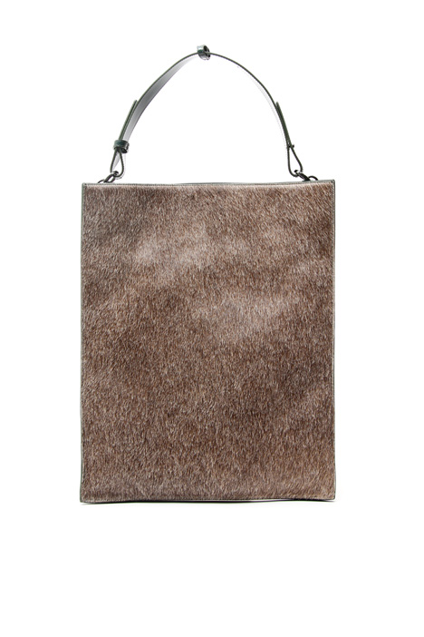 Maxi calf hair shopper Intrend