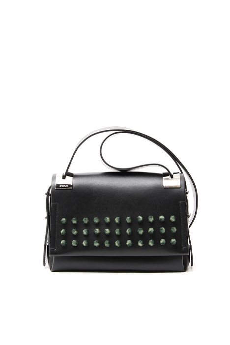 Shoulder bag with studs Diffusione Tessile