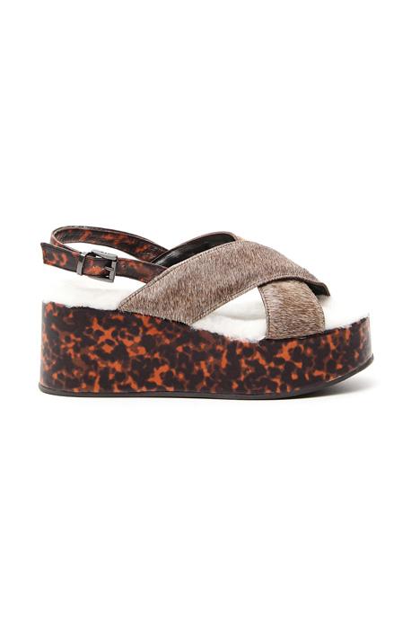 Leather platform sandal Diffusione Tessile