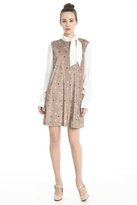 Sleeveless velvet dress Diffusione Tessile