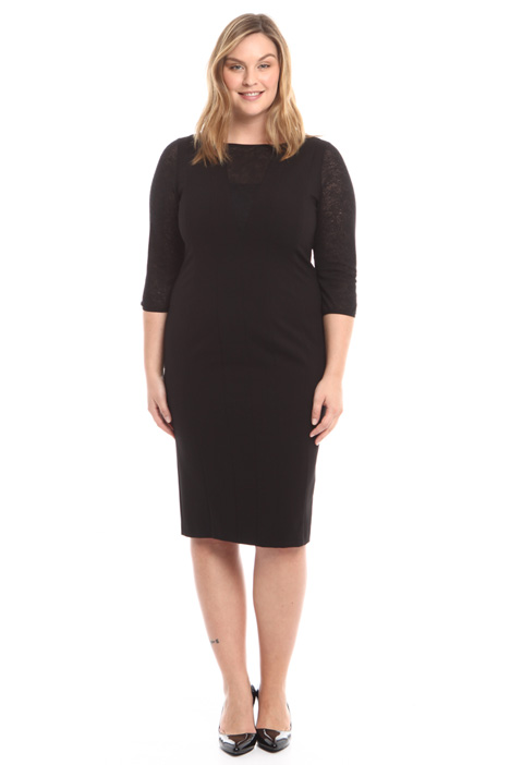 Lace and jersey sheath dress Intrend