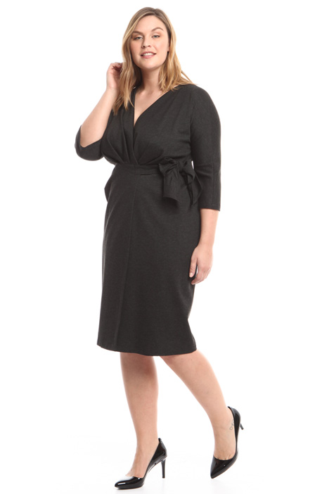 Belted jersey dress Diffusione Tessile