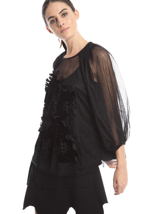 Stretch tulle blouse Diffusione Tessile