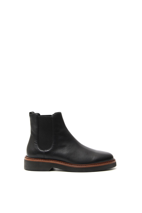 Chelsea ankle boot in leather Diffusione Tessile