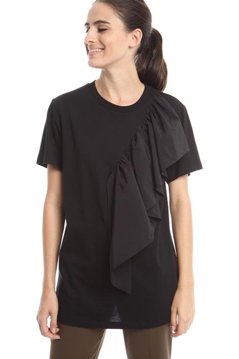 T-shirt con maxi volant Diffusione Tessile
