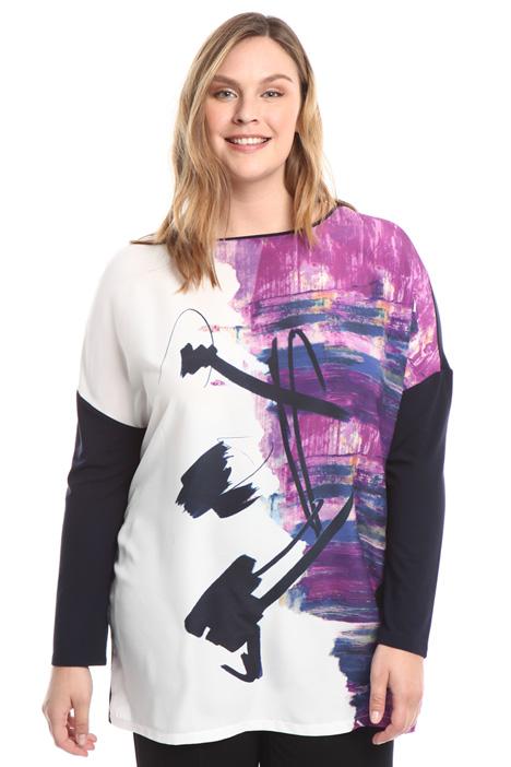 Printed kimono sleeves T-shirt Diffusione Tessile