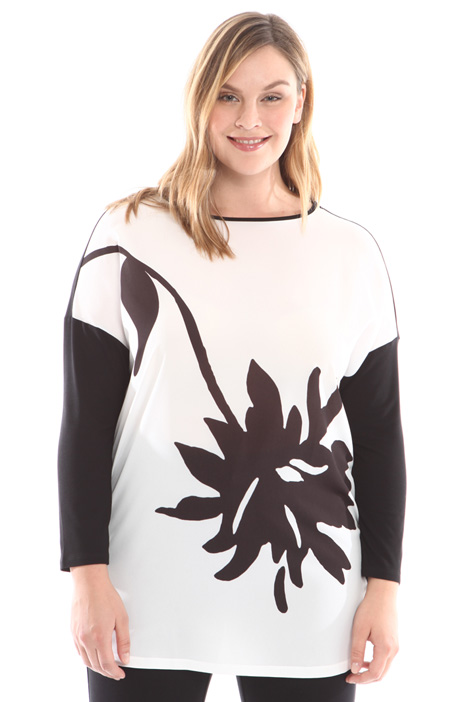 Printed kimono sleeves T-shirt Intrend