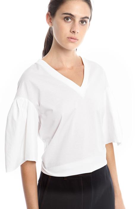 T-shirt con maniche a corolla Diffusione Tessile