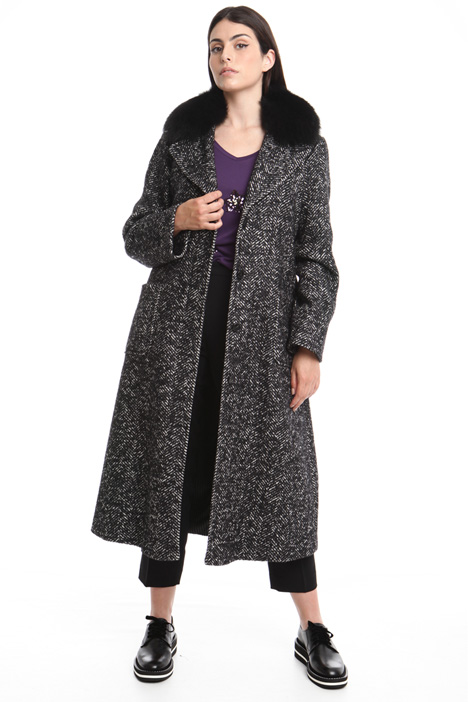 Fox-fur collar coat Diffusione Tessile