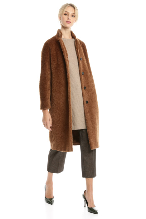 Brushed wool blend coat Diffusione Tessile
