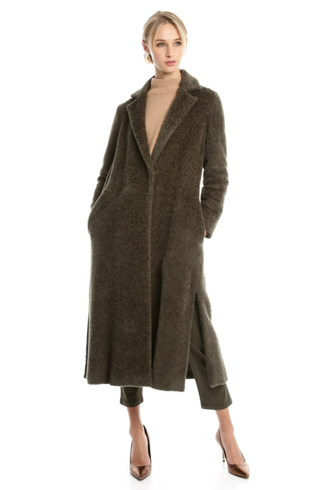 Long brushed wool coat Diffusione Tessile