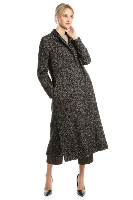 Cappotto in tweed di lana Diffusione Tessile