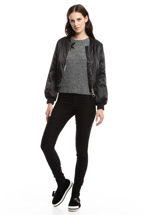 Padded satin bomber jacket Diffusione Tessile