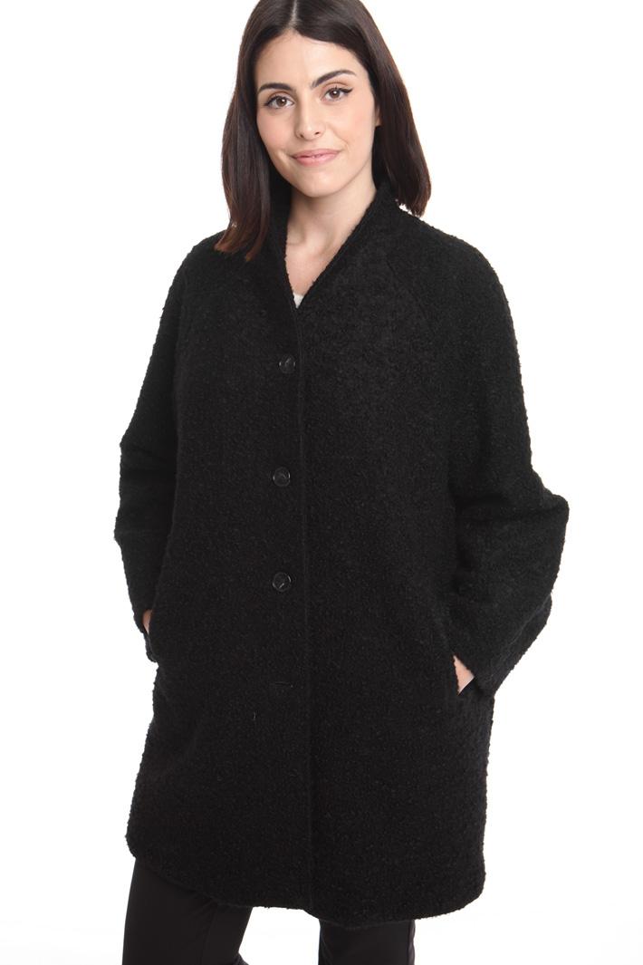 Cappotto bouclé in lana Diffusione Tessile
