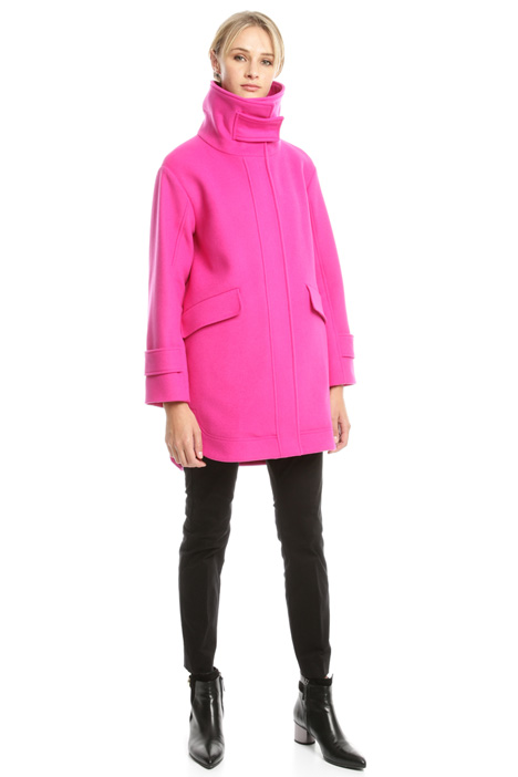 Funnel neck wool-blend coat Diffusione Tessile
