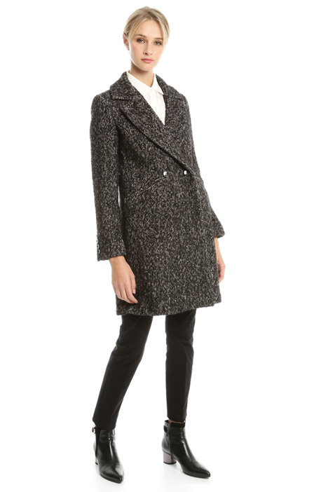 Tweed knitted coat Intrend