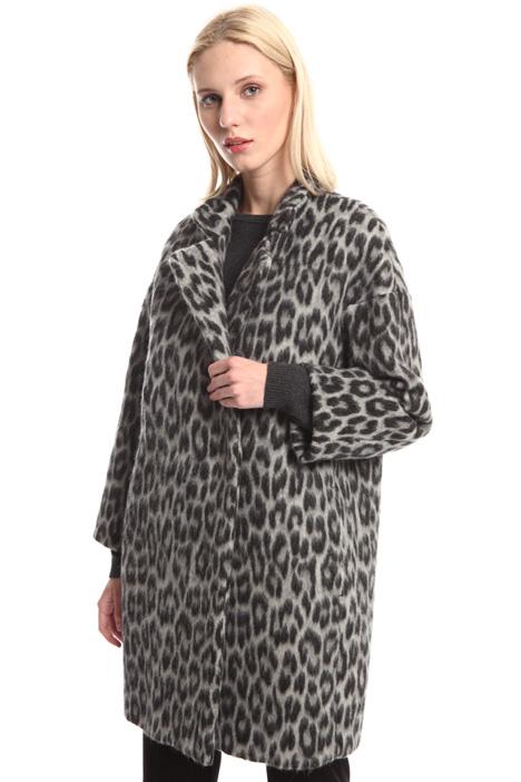 Animal print wool coat Intrend