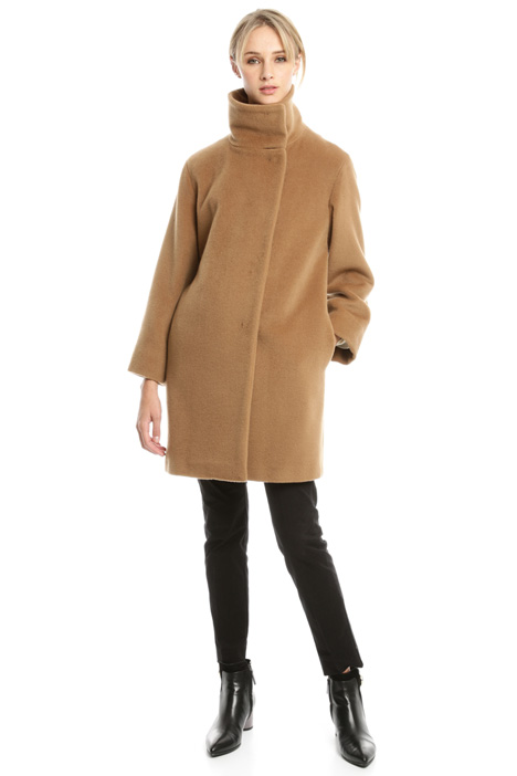 Funnel neck coat Diffusione Tessile