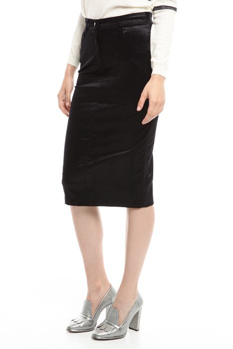 Stretch velvet longuette skirt Diffusione Tessile