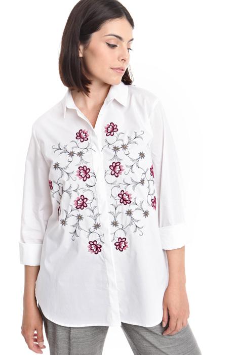 Camicia over con ricamo  Diffusione Tessile
