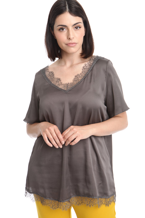 Flared printed shirt Diffusione Tessile