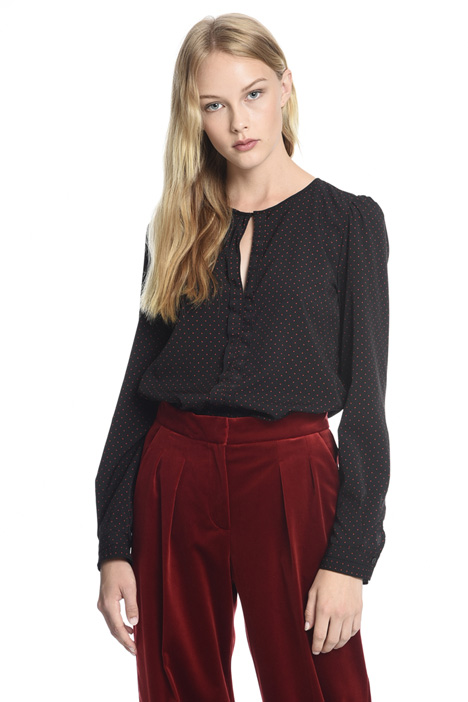 Blouse with cut-out Diffusione Tessile