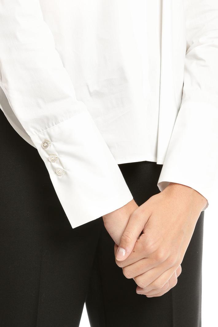 Camicia con collo arricciato Diffusione Tessile