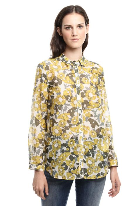 Printed cotton muslin shirt Diffusione Tessile