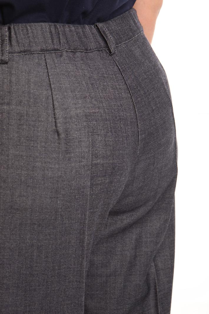 Pantalone linea dritta in lana Diffusione Tessile