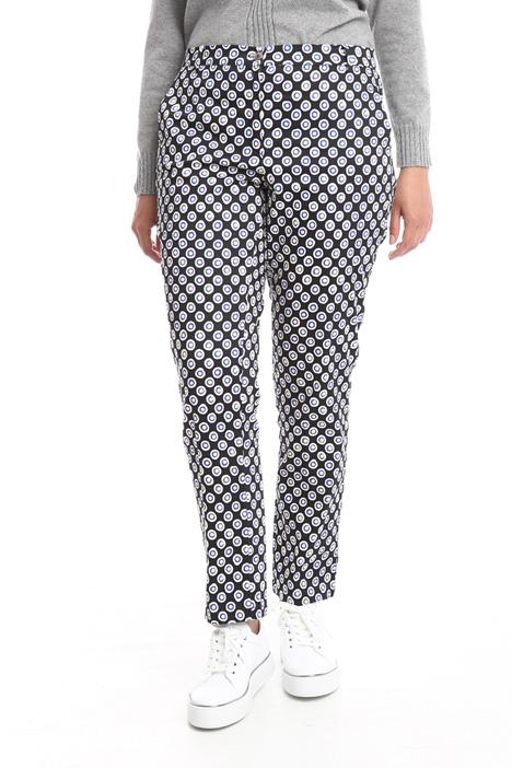 Pantalone slim in raso Diffusione Tessile