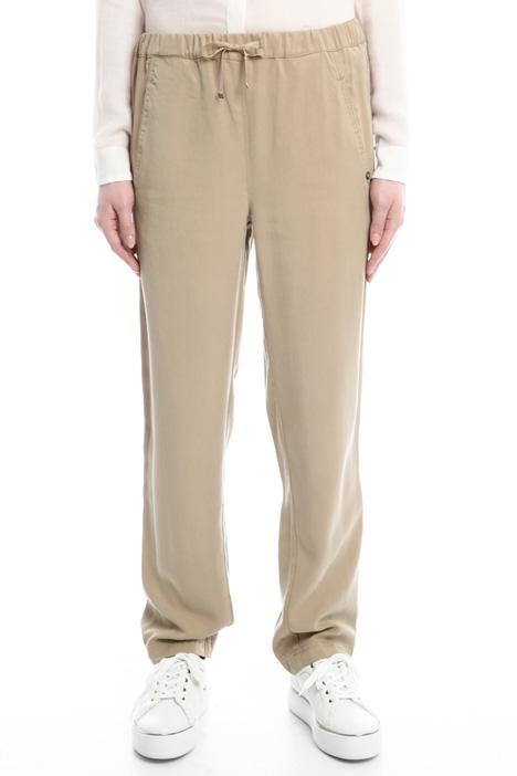 Pantaloni in gabardina fluida Diffusione Tessile