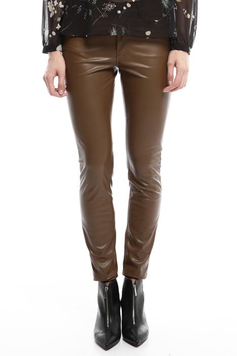 Pantalone skinny spalmato Diffusione Tessile