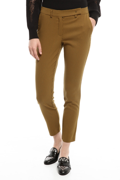 Jacquard cotton trousers  Diffusione Tessile