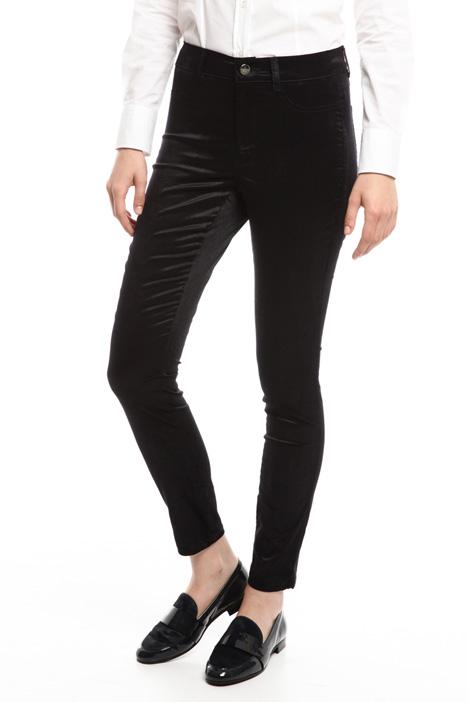 Pantalone skinny in velluto Diffusione Tessile