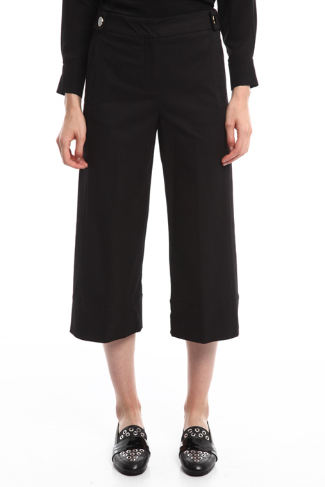 Pantalone cropped in gabardine Diffusione Tessile