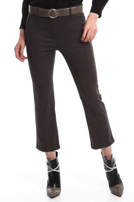 Pantaloni flared in cotone Diffusione Tessile