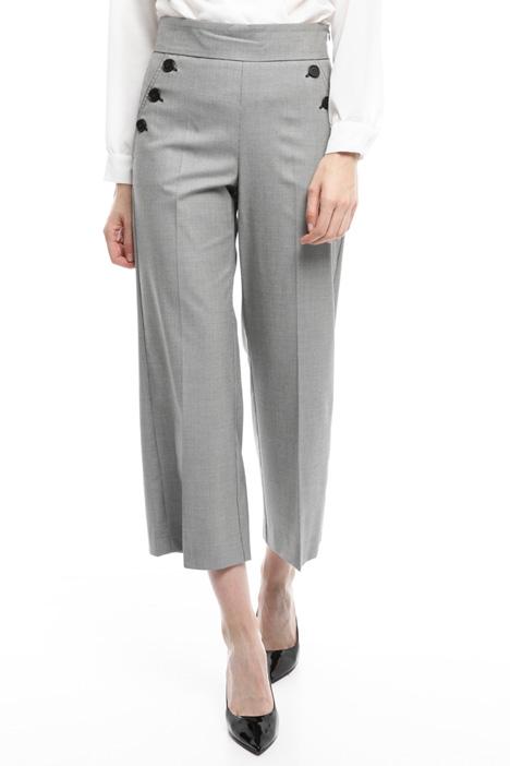 Pantalone cropped con bottoni Diffusione Tessile