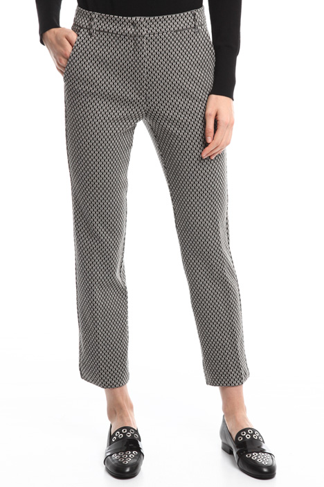 Jacquard jersey trousers Diffusione Tessile