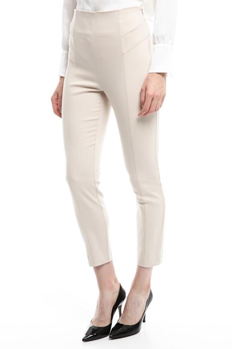 Pantaloni cropped con zip Diffusione Tessile