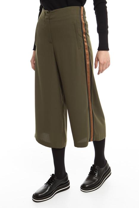 Pantaloni con riga a contrasto Diffusione Tessile