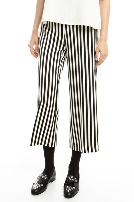 Pantalone cropped stampato Diffusione Tessile