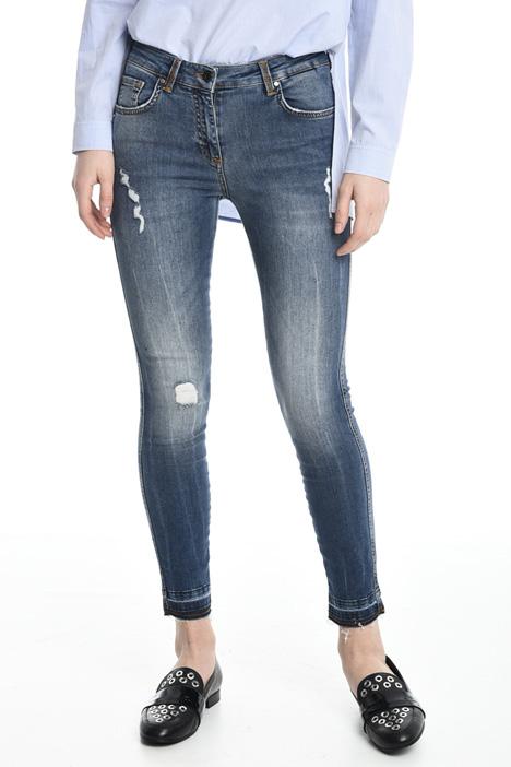 Jeans skinny con strappo Diffusione Tessile